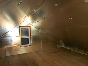 A Charlotte attic with SuperAttic installed.