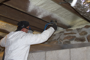 Spray foam insulation in King